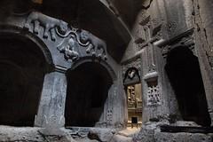 Beautiful Geghard Monastery (e y e / s e e) Tags: armenia basrelief armenie geghard   aout2008