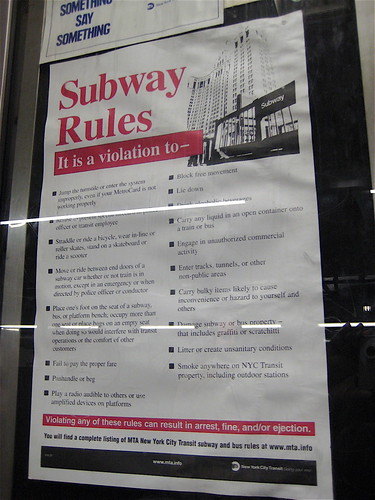 New York Subway Rules