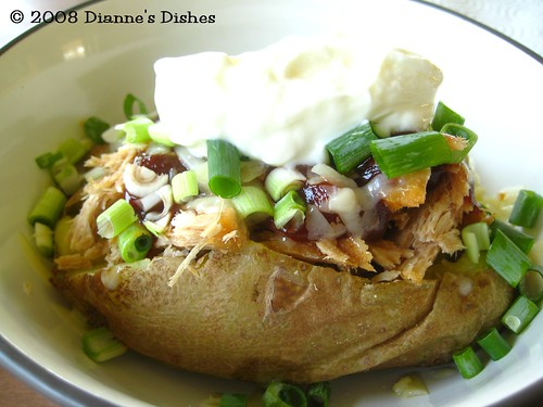 Loaded Barbeque Baked Potatoes