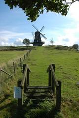 Stile and Windmill (vanstaffs) Tags: mill windmill landscape stile abigfave krapperup goldstaraward rubyphotographer vanagram brckemlla