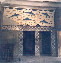 Frescoes from Knossos (radiowood) Tags: dolphins fresco crete knossos minoan