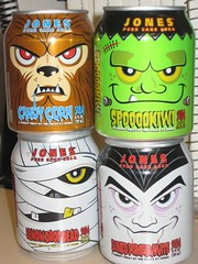 Jones Soda Halloween Editions 2008 (Paxton Holley) Tags: halloween monster jones dracula frankenstein drinks target soda mummy beverages limitededition wolfman softdrinks halloween2008