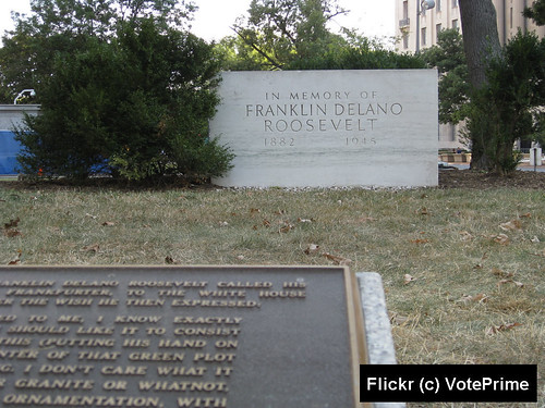 FDR Placque with Memorial