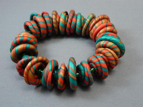 Christmas Teaching Project--polymer clay snailshell bracelet par ketztx4me