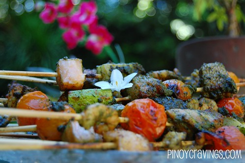 Grilled Seafood Kebab with Cherry Tomatoes Recipe