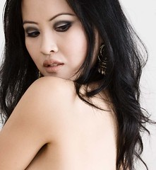 .. (sam_samantha) Tags: selfportrait black hair eyemakeup asianwomanfacejewelryphotoshopped