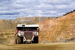 truck.  mine.  GOLD! (zyrcster) Tags: colorado mine dumptruck victor mining equipment flickrmeet haulpack pfogold pfosilver autumn2008 cressonmine cripplecreekandvictorgoldminingcompany americaneagleoverlook