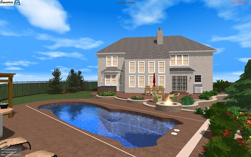 3D backyard design any layout