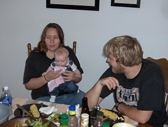 Eating dinner with Aunt Carrie & Uncle Kyle (Ludeman99) Tags: eowynlouisebitner