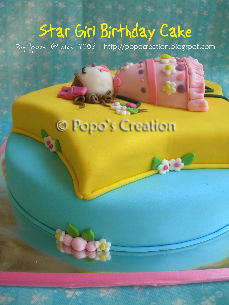 Star Girl Birthday Cake