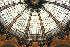 dome of Galeries Lafayette (Farl) Tags: travel paris france monument glass colors architecture mall shopping europe lafayette steel artnouveau dome galerieslafayette colloidfarlblogspotcom