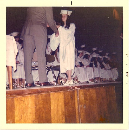ruby's graduation - towers high school, decatur, ga - 1972