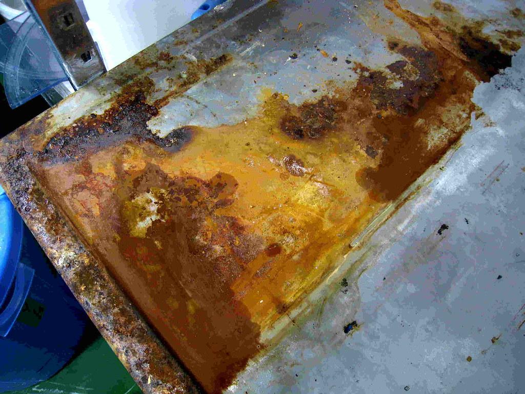 Rust on Steel Sink Before