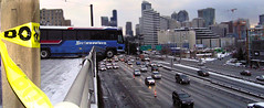 Bus Tour Of Seattle (Jeff Burger) Tags: seattle washington i5 widescreen panoramic pacificnorthwest capitalhill olympusc5060 slippery carcrash urbanlandscapes thestranger bustour moseslake seattleweekly blackice busaccident charterbus roadaccidents jeffburger