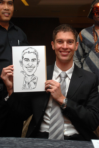 Caricature live sketching for Ezra Holdings 5