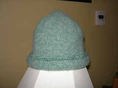 Green felted hat