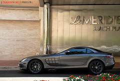 Mercedes-Benz McLaren SLR (Julien Rubicondo Photography - julienrubicondo.com) Tags: plaza flowers red summer black slr beach speed fleurs silver harbor parking rover montecarlo monaco class full sl arab mclaren mercedesbenz chic rrr mate range luxury mb supercar meridien lemeridien dealer roadster carlsson lemridien sl63 sl63amg slcarlsson