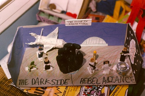 4th grade Star Wars book report diorama