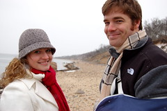 Rachel and Collin (taberandrew) Tags: winter snow ny newyork beach collin facebook easthampton rachelw suffolkcountyny facebook:aid=2257701 facebook:user=7801049 facebook:user=7807021