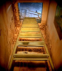 The Stairs (Batram) Tags: abandoned stairs train raw decay railway stairway treppe urbanexploration workshop bahn hdr maglite leiter urbex werkstatt reichsbahn lostplace batram trainrepairshop reichsbahnausbesserungswerk veburbexthuringia vanishingextraordinarybuildings
