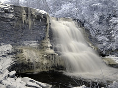 Frozen Swallow Falls (zachstern) Tags: park winter wallpaper cold ice water canon river landscape frozen waterfall md maryland falls icicles deepcreeklake swallowfalls ircamera g9 maxmaxcom deepcreeklakemaryland xnitecanong9