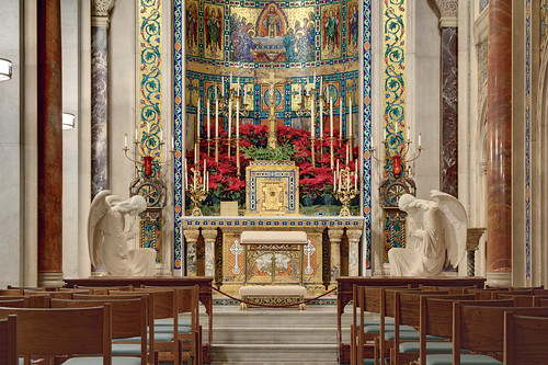 Cathedral Basilica of Saint Louis, in Saint Louis, Missouri, USA - Blessed Sacrament Chapel decorated for Christmas