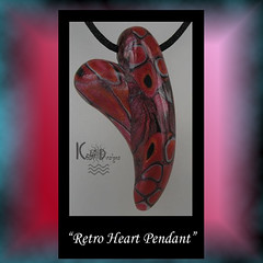 Retro Heart Pendant