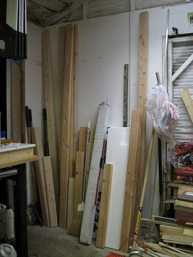wood in my garage