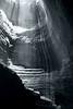 Inside (Alex Wainshtok) Tags: light shadow bw lines shapes cave levels