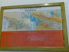 Gruzija na zemljevidu