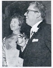 Dr. and Mrs. Allyn Robinson at the reception for his inauguration as the first president of Dowling College on February 2, 1969.