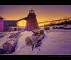 Wood Ja? ;-) (Dave the Haligonian) Tags: wood winter sunset snow canada mill ice dark sushi evening nikon raw novascotia sundown dusk smoke logs stack teepee nikkor burner sackville hdr lumber d90 beaverbank 18200mmvr dsc296456hdr mmmrawfish woodja mmmmbeaver nowwhatswrongwiththislol