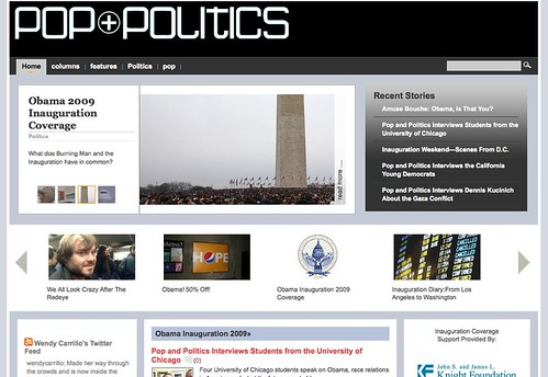 Pop + Politics covers the Inauguration with Knight Foundation's support