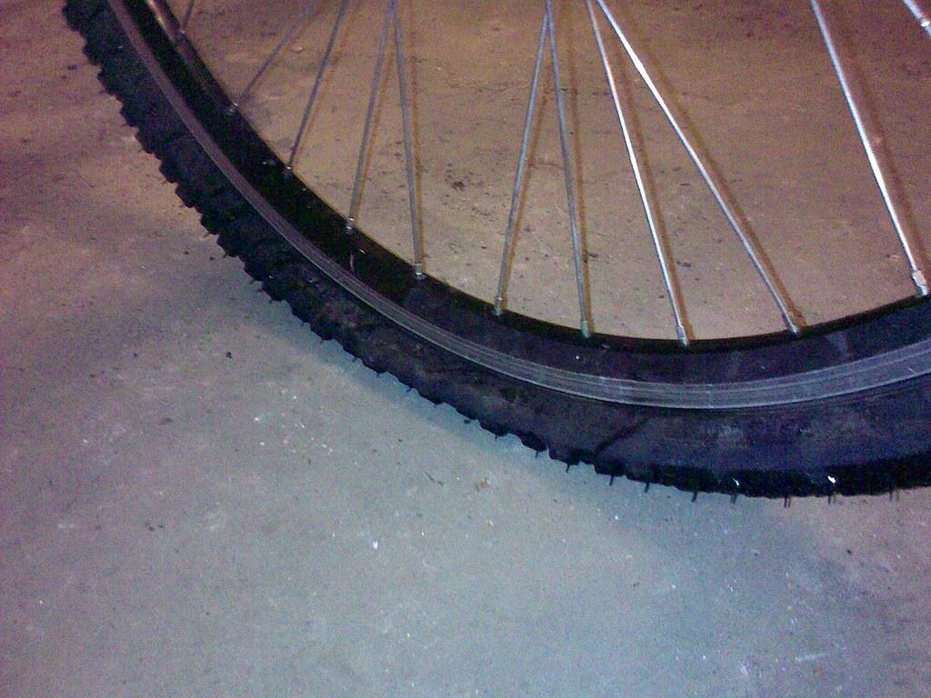 Winter bike commuter morning flat tyre blues
