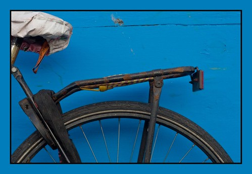 fiets in blauw
