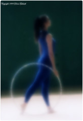 La gymnaste (Gislaadt Art (I am back NOW)) Tags: blue blur sport bleu sensational gr flou gymnastic rsg gymnastique eventidafotografare creattivit