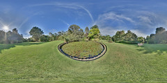 Melbourne: Lily Pond 1 Botanic Gardens Melbourne Vic Equirectangular (Peter Gawthrop) Tags: gardens pond lily gimp melbourne linux botanic vic ubuntu hugin equirectangular gawthrop mathmap petergawthrop