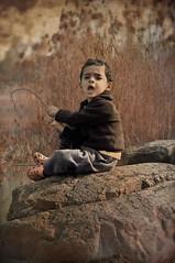 Saif (irfan cheema...) Tags: winter pakistan boy lake texture water rock reeds kid ps soe saif shout crocs platinumphoto irfancheema