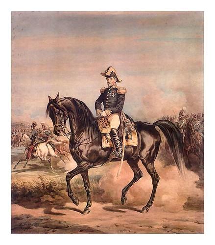 019-  Retrato ecuestre del General Ignacio Kruszewskiego 1871-acuarela-Juliusz Kossak