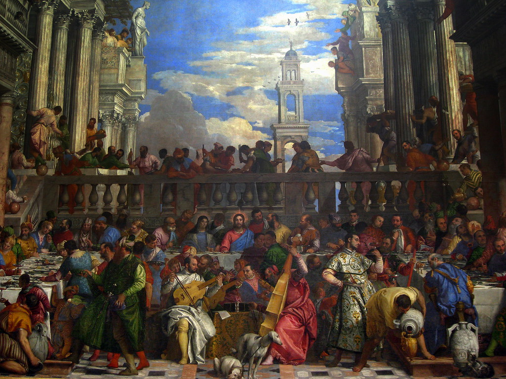 the wedding feast at cana by veronese essay Veronese's the marriage at cana (1563) veronese's marriage at cana is one of those paintings so large and so important that no history of art can be complete without tackling it it supposedly depicts the moment when drink ran out at a wedding feast and christ miraculously turned the water into red wine.