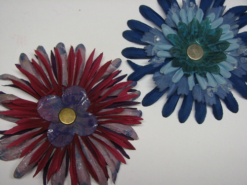 Faux Batik Dyed Flowers017