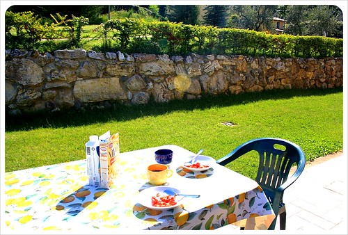 Belmonte vacanze breakfast on terrace