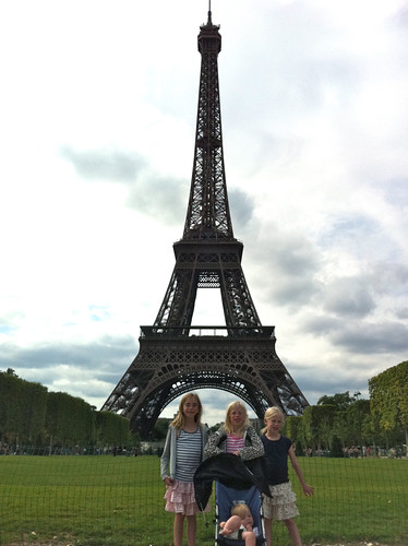 Eiffel Tower. Girls