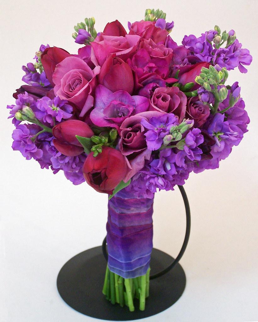 Sparks Florist Purple Romance Bridal Bouquet
