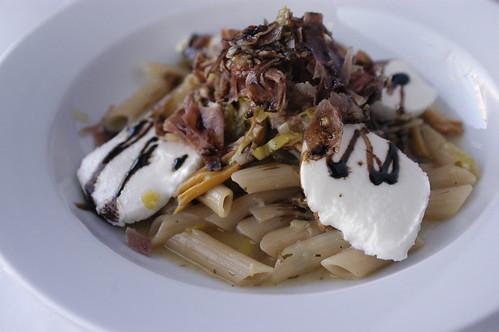 leek and prosciutto pasta