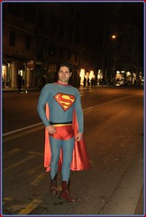 Superman with boots and big gift
