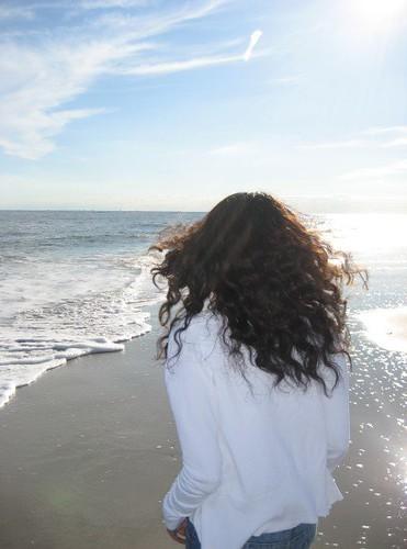 curls on the beach