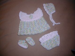 Ravelry: Baby Girl Sleeper Set pattern by Abigail Goss