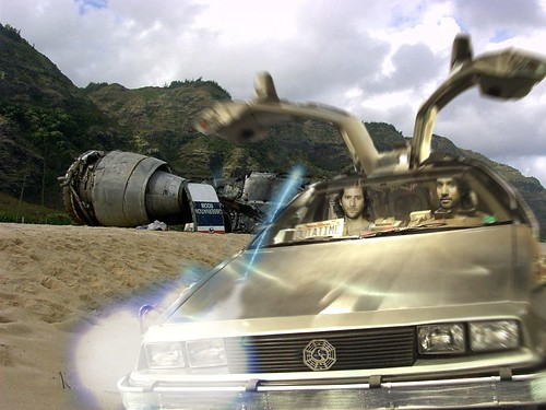 Lost: Sayid  and Desmond  on delorean