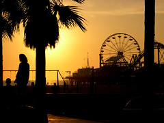 The romantic wheel (manlio_k) Tags: santa people tree los tramonto angeles dusk palm monica manlio castagna skyes manliocastagna manliok